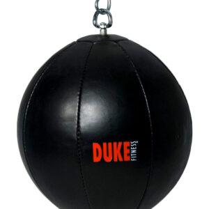 Duke Fitness lattia-kattopallo on tukevaa PU keinonahkaa.
