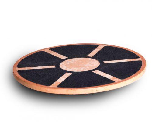 Tukeva puinen Duke Fitness tasapainolauta Woodie, jolla voit harjoittaa tasapainoa ja lihaskoordinaatiota.