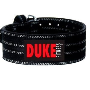 Selälle vankkaa tukea kovassakin treenissä ja nostoharjoituksissa! Duke Fitness voimanostovyö on tukevaa, monikerroksista aitoa haljasnahkaa.