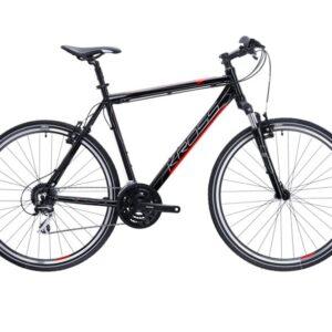 Sporttinenja monipuolinen Kross Evado 3.0 miesten hybridi polkupyörä kuljettaa ajajan uusiin maisemiin!
