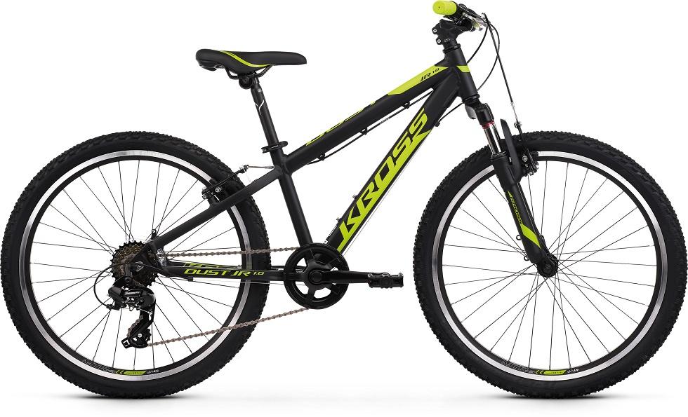 Kross Dust JR 1.0 junior maastopyörä 24″on täpäkkä juniorkokoinen polkupyörä tukevilla renkailla