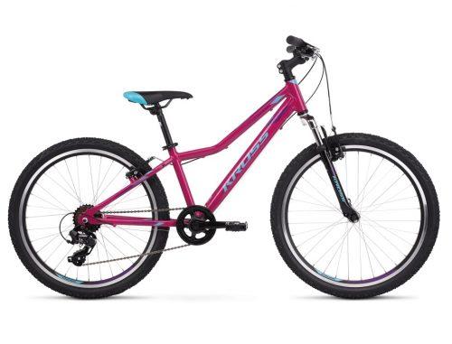 """Kross Lea JR 1.0 polkupyörä on suosittu tyttöjen juniorpyörä 24"""" rengaskoolla, minkä tukeva rakenne, hyvä ajettavuus ja ihanat värit ovat nuorten ajajien mieleen."""