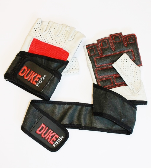 Duke Fitness Kevalr Pro rannetuki salihanskojen kämmenselkä hyvin joustavaa ja napakkaa Spandexia.